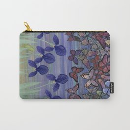 midnight frogs with irises and butterflies Carry-All Pouch