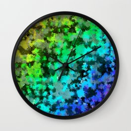 Starrider -- Abstract cubist color expansion Wall Clock