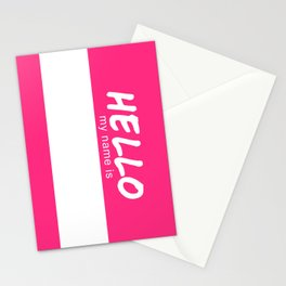 Hello My Name is (DIY Draw it Yourself!) Stationery Cards