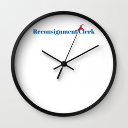 Reconsignment Clerk Ninja in Action Wall Clock