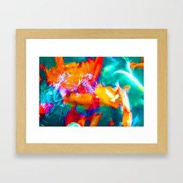 Trippy Fish Framed Art Print