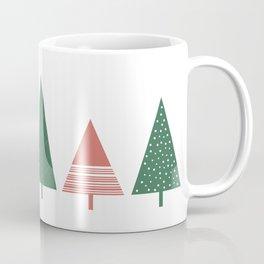 Holiday Trees, Festive, Print Coffee Mug