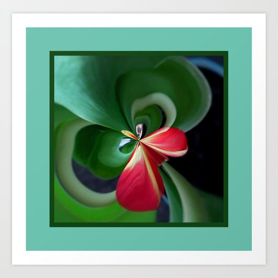 Tulip leaves Art Print