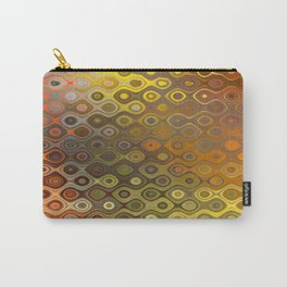 Wobbly Dots in yellow-orange Carry-All Pouch