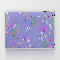 blue meadows colorful floral pattern Laptop & iPad Skin
