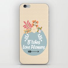 NSFW - B*tches Love Flowers iPhone & iPod Skin