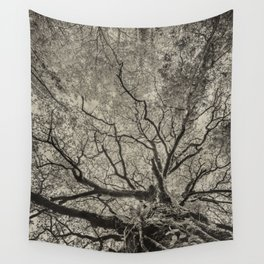 The old oak tree Wall Tapestry