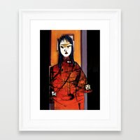 lily Framed Art Prints featuring Lily by agnes Trachet