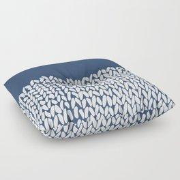Half Knit Navy Floor Pillow