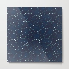 Constellation Pattern (A) Metal Print