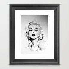 Marilyn Monroe portrait Framed Art Print