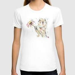 Gopher Colorful Watercolor Painting T-shirt