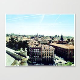 madrid rooftop view Canvas Print