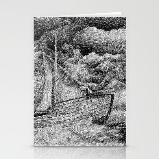 Fingerprint - Sailing Stationery Cards