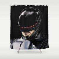 robocop Shower Curtains featuring RoboCop (2014) by Jamie Briggs