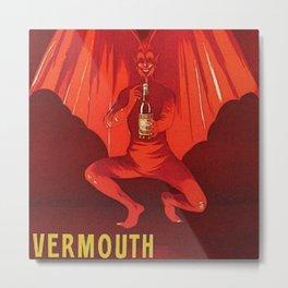 Vintage 1920's Vermouth Torino Cora Alcoholic Beverage Advertisement by Leonetto Cappiello Metal Print