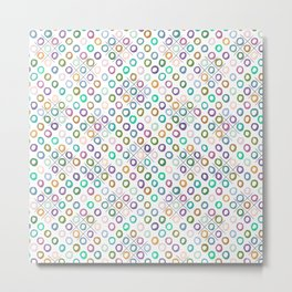 Colorful Tic-Tac-Toe Mask Metal Print