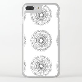 SPIROGRAPH NO. 11 REPEATED Clear iPhone Case
