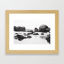 Ocean Rocks Framed Art Print