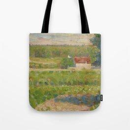 """Georges Seurat """"La Maison au toit rouge"""" Tote Bag"""