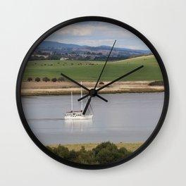 Motoring up River Wall Clock