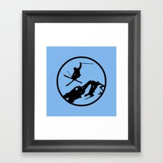 skiing 3 Framed Art Print