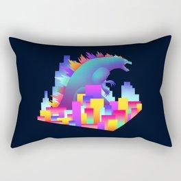 Neon city Godzilla Rectangular Pillow