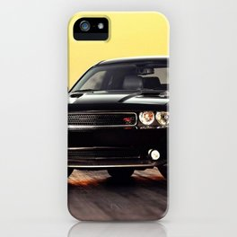 Black Challenger RT Classic with red badging and stripes iPhone Case