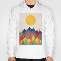 rainbow Hoodies featuring Uphill Battle by Picomodi