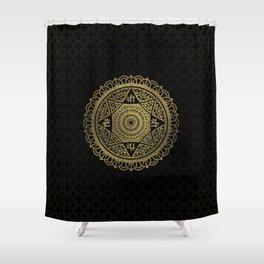 Golden  Star of Lakshmi - Ashthalakshmi  Sri Shower Curtain