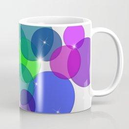 Translucent Rainbow Colored Circles Digital Illustration - Multi Colored Artwork Coffee Mug