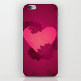 Heart and flowers iPhone Skin