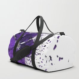 Purple flower Explosion Duffle Bag