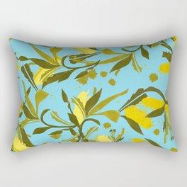 Melaleca blue & yellow textured Rectangular Pillow