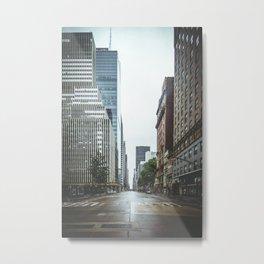 Empty Streets - New York City Metal Print