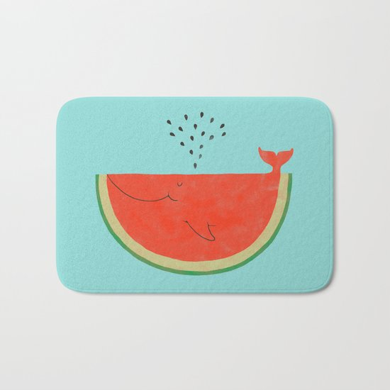 Don't let the seed stop you from enjoying the watermelon Bath Mat