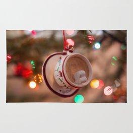 Christmas Hot Chocolate Photography Print Rug