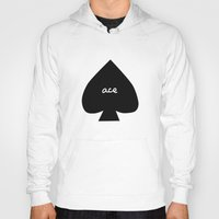 ace Hoodies featuring ACE by An Artsy Corner
