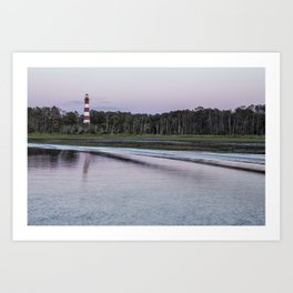 Assateague Lighthouse - landscape Art Print