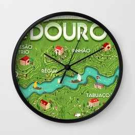 Travel Posters - Douro Wall Clock