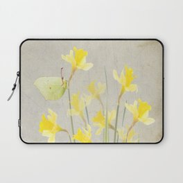Daffodils and brimstone Laptop Sleeve