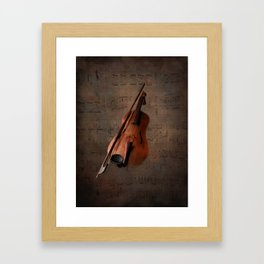 Painting Vintage Violin Framed Art Print