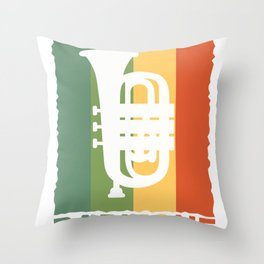 Baritone Retro Band Musician Vintage Lovers graphic Gift Throw Pillow