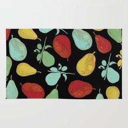 pears - black Rug