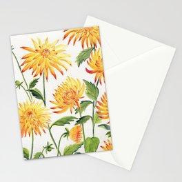 Dahlia Flowers 1 Stationery Cards