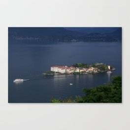 Busy Day On Lake Maggiore Canvas Print