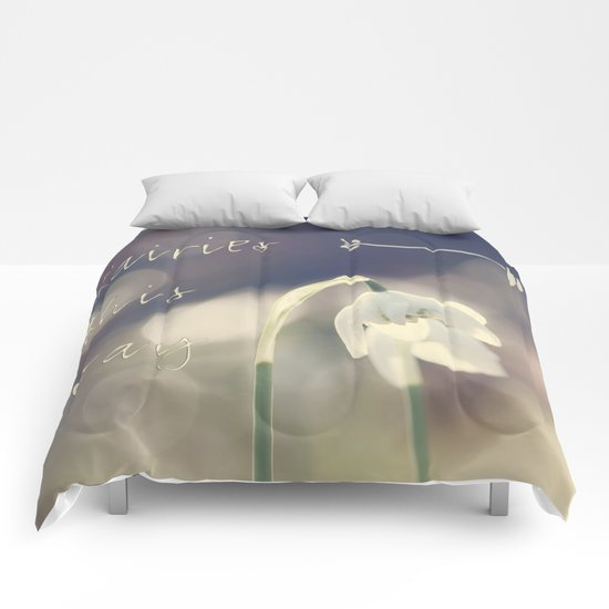 Fairies this way- Snowdrop- Flower- Spring Comforters