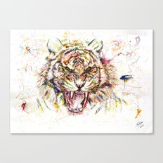 Tatewari Ute'a Tiger Canvas Print