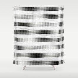 Black Diamonds Gross Stripes /Strokes/Lines Shower Curtain