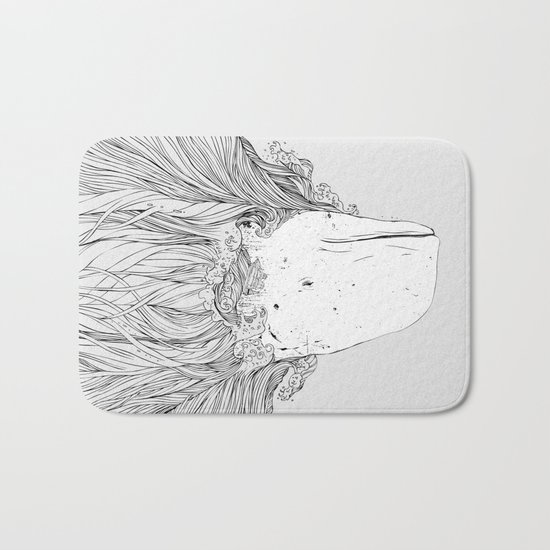 The White Whale Bath Mat